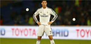 Cristiano Ronaldo on the field